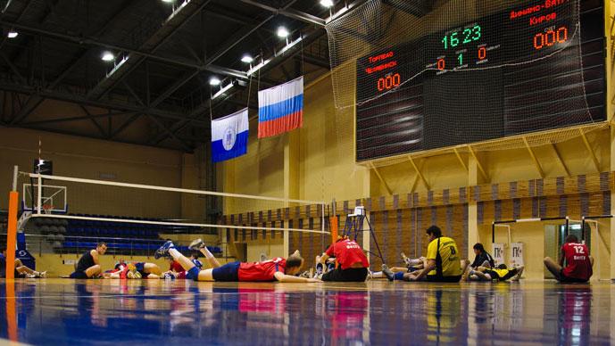разминка перед волейболом